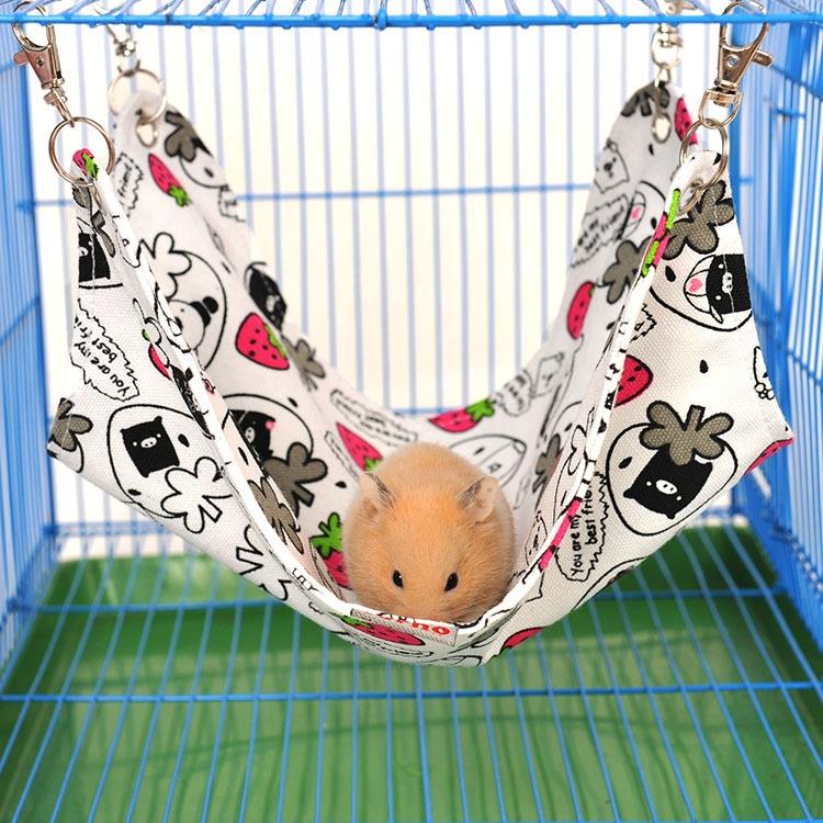 Pet Canvas Hammock Nice And Warm Cat Hammock Hamster Mat Nest Pet Bed (Medium) (Random Color)