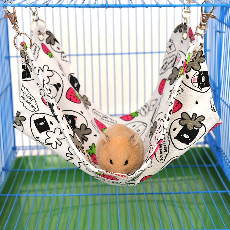 Pet Canvas Hammock Nice And Warm Cat Hammock Hamster Mat Nest Pet Bed (Large) (Random Color)