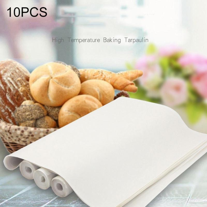 10 PCS Cuttable Reusable High Temperature Resistance Anti-stick Baking Tarpaulins (Random Color)