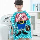 Children Beach Towel Hooded Cloak Kids Boy Girl Baby Bath Towel Absorbent Bathrobe Swim Clothes, 60x120cm, Suitable for Height 1.2m or Less