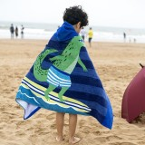 Towel To Wear Hooded Cloak Bath Towel Absorbent Bathrobe Swim Clothes for Adult / Children, 76x127cm