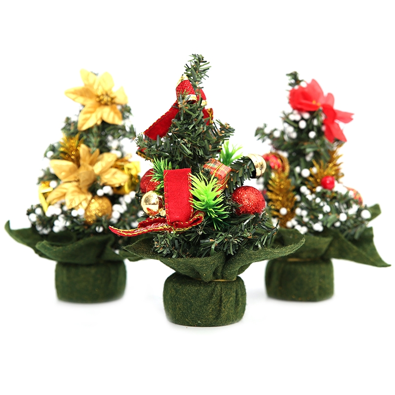3 PCS Mini Christmas Trees Xmas Decorations, 20 * 18cm