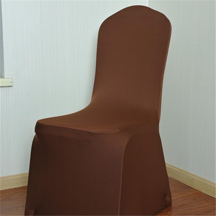 Elastic Chair Cover Weddings Banquet Restaurant Chair Covers (Coffee)