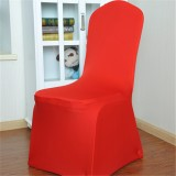 Elastic Chair Cover Weddings Banquet Restaurant Chair Covers (Red)