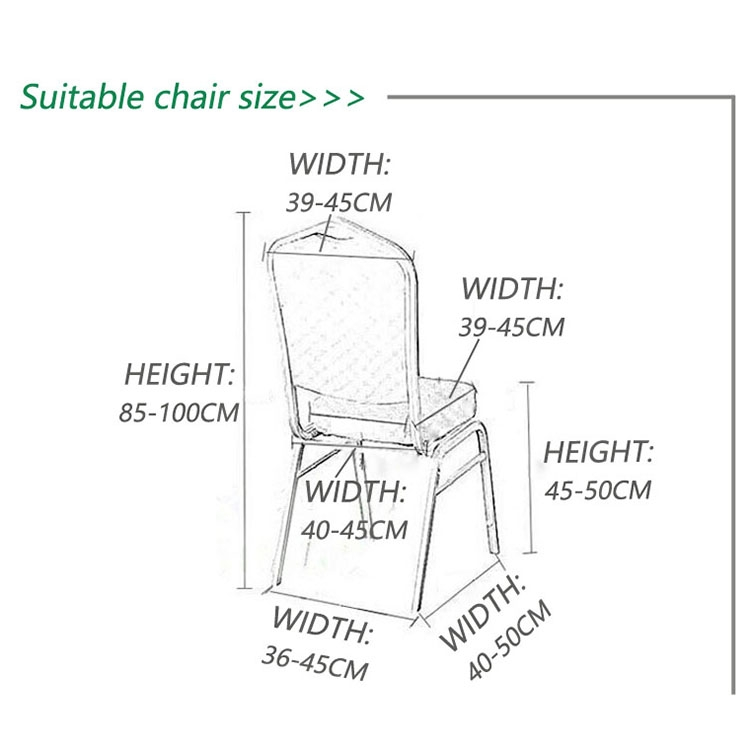 Elastic Chair Cover Weddings Banquet Restaurant Chair Covers (Wine Red)
