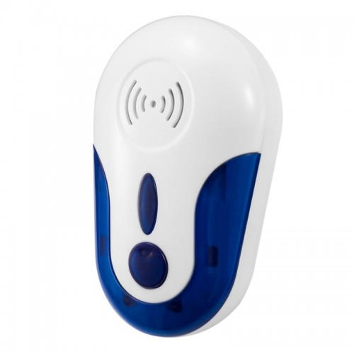 4W Electronic Ultrasonic Anti Mosquito Rat Mouse Cockroach Insect Pest Repeller, US Plug, AC 90-250V (White + Blue)