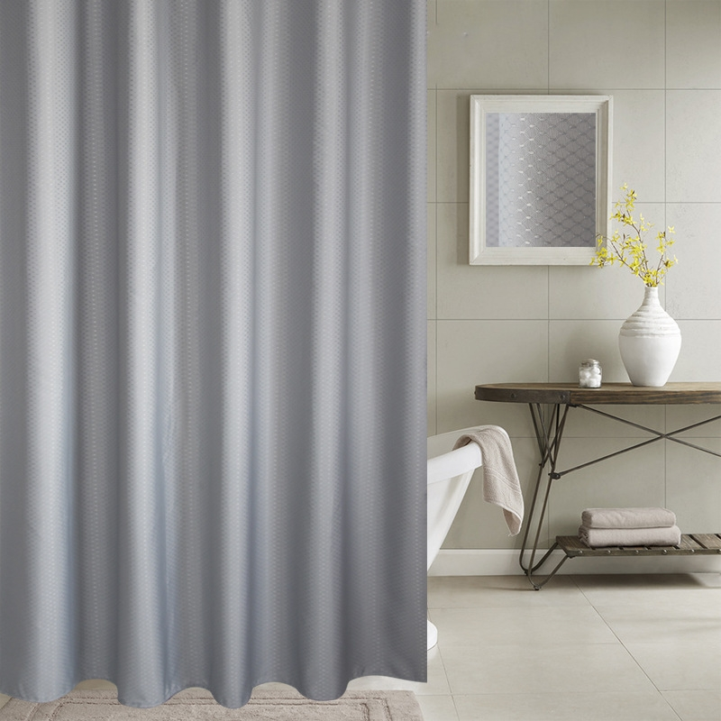 Thickening Waterproof And Mildew Curtain Honeycomb Texture Polyester