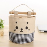 2 PCS Multilayer Cotton and Linen Storage Hang Bag Sundry Store Content Bag The Wardrobe Door Suspended Wall Storage Bag