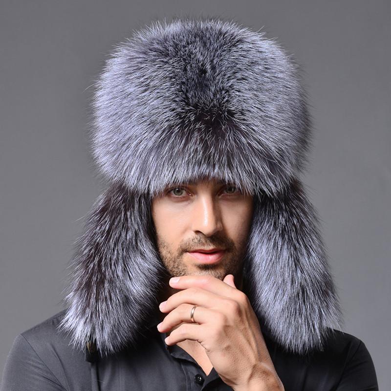9b0510c4f518a Winter New Style Fox Hair LeiFeng Men Hats