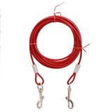 Double-end Steel Wire Rope Pet Dogs 2 in 1 Traction Rope Pet Walking Leads With Handle, 5m (Random Color)