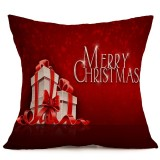 Christmas Festival Pattern Car Sofa Pillowcase with Decorative Head Restraints Home Sofa Pillowcase, A, 43*43cm