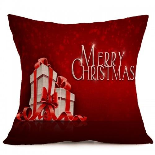 Christmas Festival Pattern Car Sofa Pillowcase with Decorative Head Restraints Home Sofa Pillowcase, A, 43*43cm