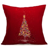 Christmas Festival Pattern Car Sofa Pillowcase with Decorative Head Restraints Home Sofa Pillowcase, B, 43*43cm