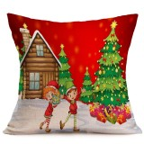 Christmas Festival Pattern Car Sofa Pillowcase with Decorative Head Restraints Home Sofa Pillowcase, C, 43*43cm