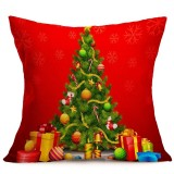 Christmas Festival Pattern Car Sofa Pillowcase with Decorative Head Restraints Home Sofa Pillowcase, D, 43*43cm