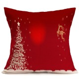 Christmas Festival Pattern Car Sofa Pillowcase with Decorative Head Restraints Home Sofa Pillowcase, E, 43*43cm