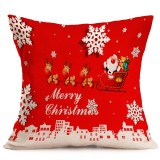 Christmas Festival Pattern Car Sofa Pillowcase with Decorative Head Restraints Home Sofa Pillowcase, F, 43*43cm