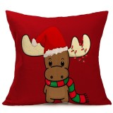Christmas Festival Pattern Car Sofa Pillowcase with Decorative Head Restraints Home Sofa Pillowcase, J, 43*43cm
