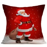 Christmas Festival Pattern Car Sofa Pillowcase with Decorative Head Restraints Home Sofa Pillowcase, K, 43*43cm