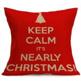 Christmas Festival Pattern Car Sofa Pillowcase with Decorative Head Restraints Home Sofa Pillowcase, L, 43*43cm