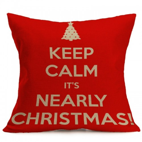 Christmas Festival Pattern Car Sofa Pillowcase with Decorative Head Restraints Home Sofa Pillowcase, L, 43*43cm