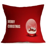 Christmas Festival Pattern Car Sofa Pillowcase with Decorative Head Restraints Home Sofa Pillowcase, M, 43*43cm