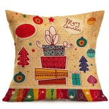 Christmas Festival Pattern Car Sofa Pillowcase with Decorative Head Restraints Home Sofa Pillowcase, N, 43*43cm