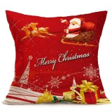 Christmas Festival Pattern Car Sofa Pillowcase with Decorative Head Restraints Home Sofa Pillowcase, P, 43*43cm