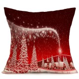 Christmas Festival Pattern Car Sofa Pillowcase with Decorative Head Restraints Home Sofa Pillowcase, Q, 43*43cm