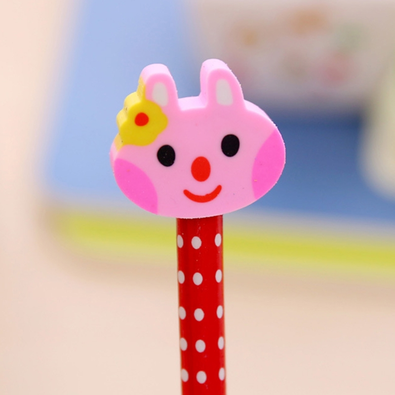 e7123ee07b520e 10 PCS Creative Stationery Cartoon Animals Series Wooden HB Pencil with Eraser  Children Pencils For Kids. HC3218A_1. ...