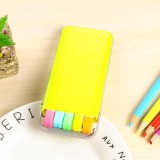 5 PCS / Box Candy Color Fluorescent Marker Pen Fragrance Highlighter Pen Watercolor Pen Marker Pen (Yellow)