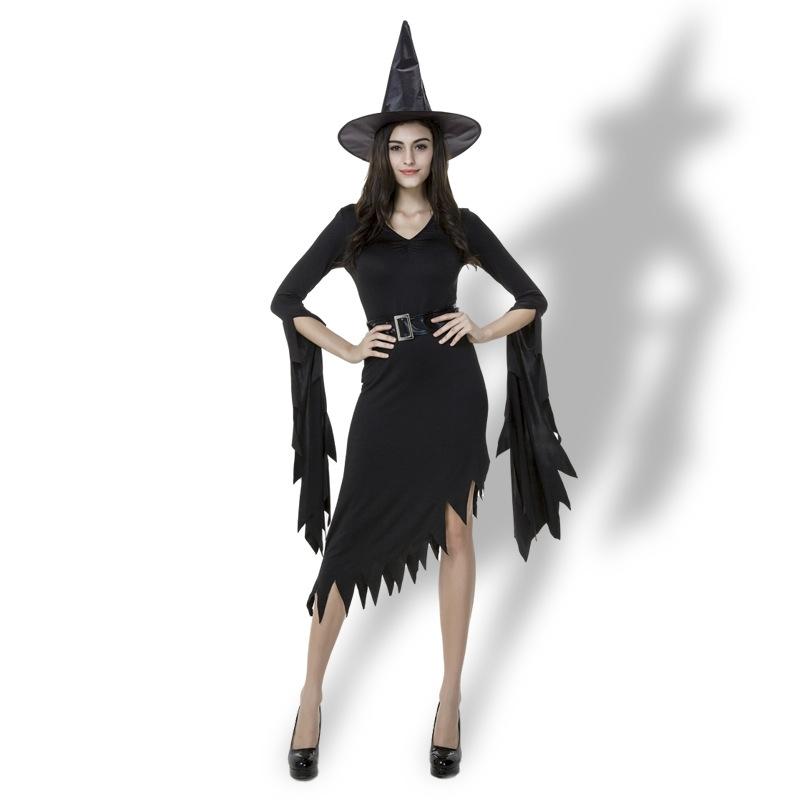 Black Irregular Long Skirt Exit Halloween Costume Cosplay Show