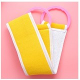 2 PCS Fashion Pull Back Bath Towel Thickening Double Strip Strongly Avoid Rubbing Bath Sponge (Random Color)