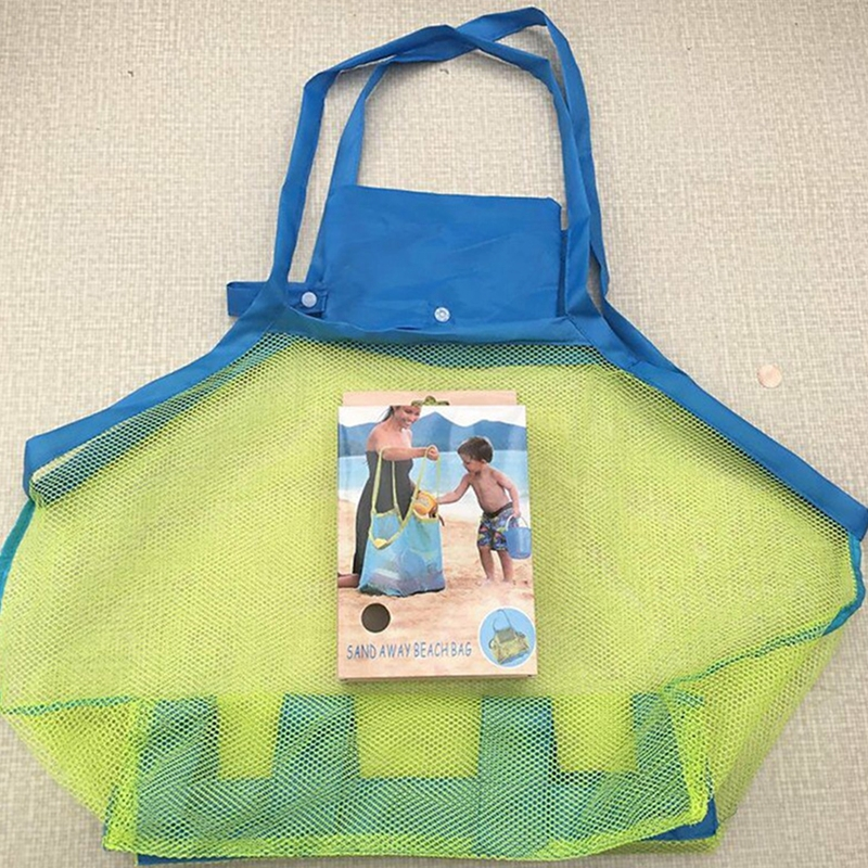Portable Mesh Children Beach Dredging Tools Toy Quick Storage Bag Handbag