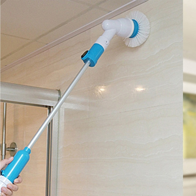 Multi-function Tub and Tile Scrubber Cordless Power Spin Scrubber Power Cleaning Brush Set for Bathroom Floor Wall, AC 220V