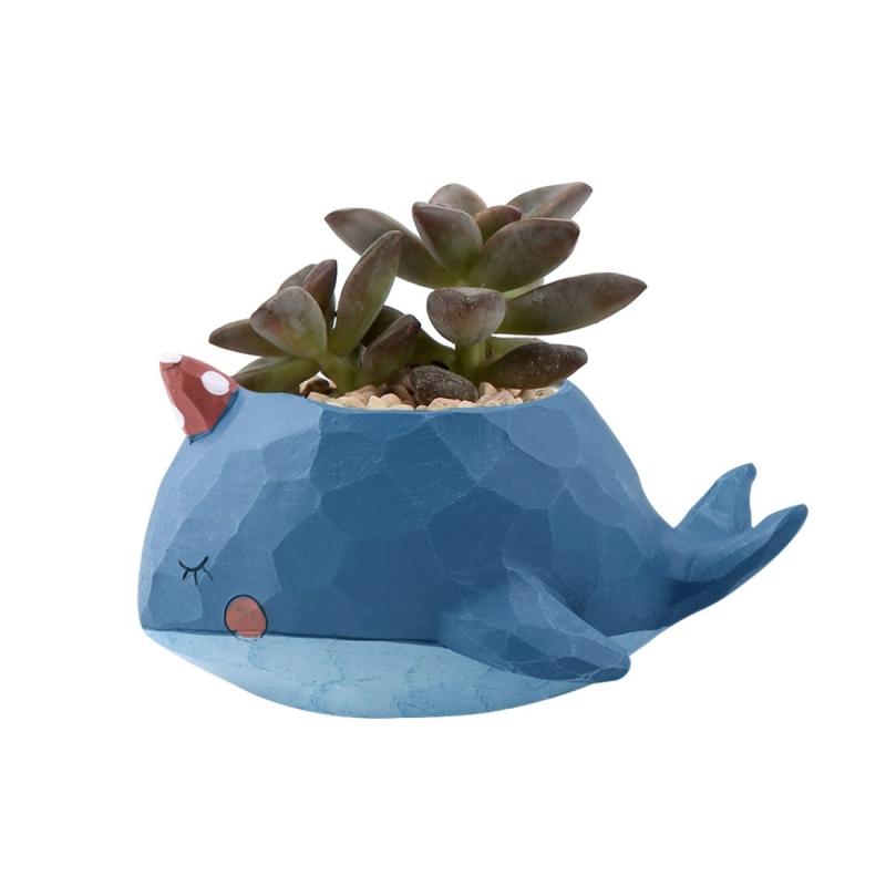office flower pots. Lovely Home Garden Office Resin Cartoon Animal Whale Shaped Plant Flower Pot Decoration Pots W
