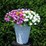 Floral Hollow Home Decorated Multiple Color Simple Flower Arrangement Plastic Vase Flower Pots for Wedding Decoration (Random Color)