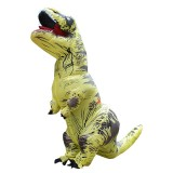 Inflatable Dinosaur Adult Costume Halloween Inflated Dragon Costumes Party Carnival Costume for Women Men (Yellow)