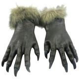 1 Pair Halloween Decoration Latex Wolf Gloves Halloween Festival Party Fancy Masquerade Glove Props