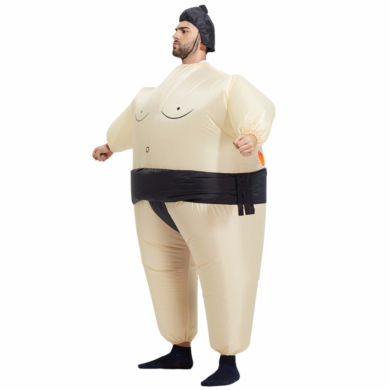 Adult Inflatable Sumo Costume Halloween Christmas Festival Party Carnival Inflated Clothes Wrestler Costumes