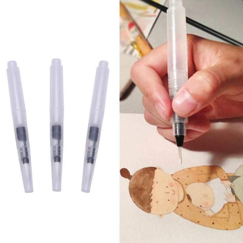 3 PCS Pilot Ink Pen for Water Brush Watercolor Calligraphy Painting Tool Set Office Stationery (Size: S/M/L)