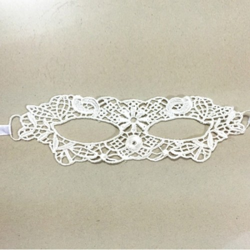 Masquerade Party Dance Sexy Lady Lace Delight Mask (White)
