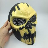 Halloween Cosplay Party Full Face Airsoft Devil Fire Skull Mask