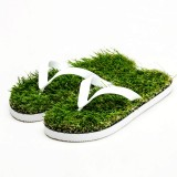 KEMA Summer New Pattern Flat Bottom Home Furnishing Non-slip Simulation Lawn Slippers Flip Flops