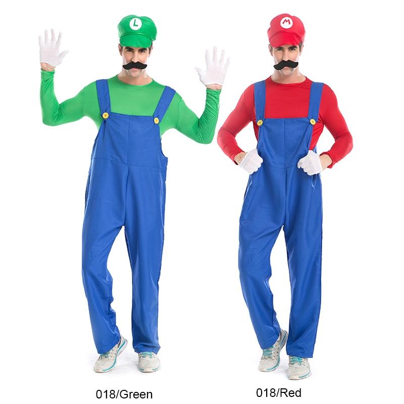 ... HC6245_10.jpg  sc 1 st  Alexnld.com & Halloween Costume Male SuperMario Mario and Luigi Brothers Plumbers ...