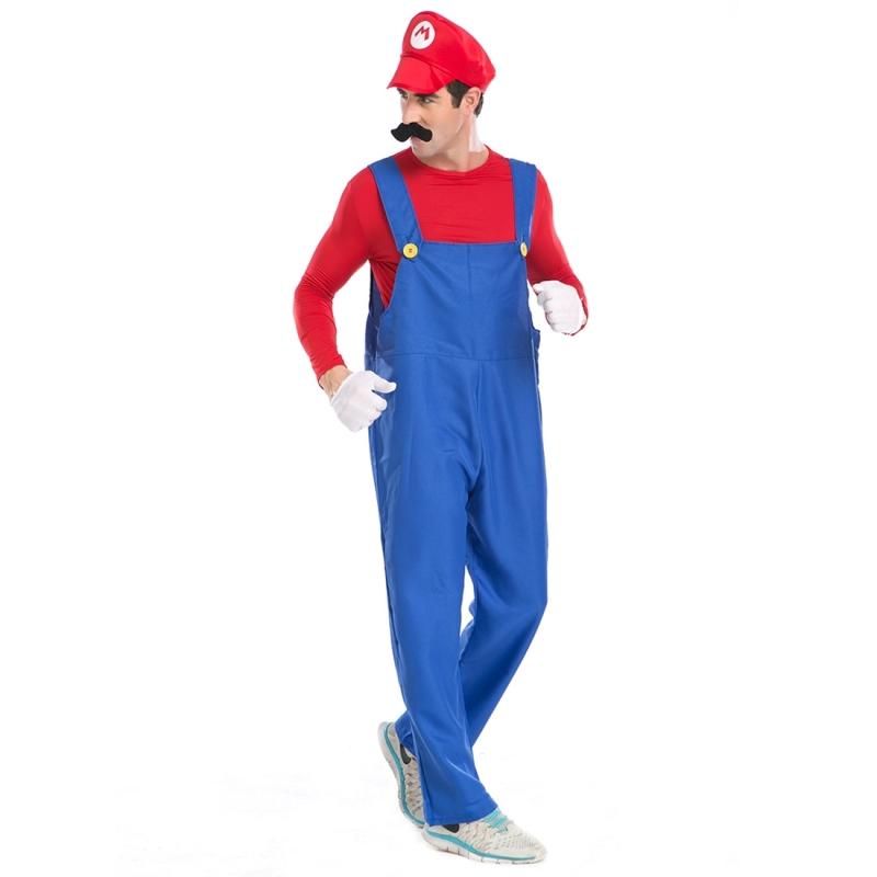 Halloween Costume Male SuperMario Mario and Luigi Brothers ...