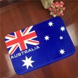 Australia Flag Pattern Rectangular Bathroom Living Room Bedroom Door Flannel Anti-skid Household Foot Pad Carpet