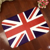 UK Flag Pattern Rectangular Bathroom Living Room Bedroom Door Flannel Anti-skid Household Foot Pad Carpet