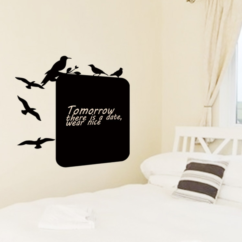 Thicker Blackboard Paste Wall Stickers Living Room ...