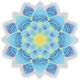 Polygon Gorgeous Tassel Lotus Summer Bath Towel Sand Beach Towel Shawl Scarf Yoga Mat (Blue)